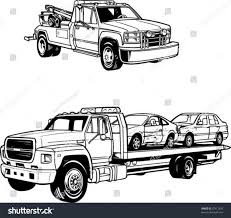 100 Tow Truck Vector Line Illustrations S Stock Royalty Free