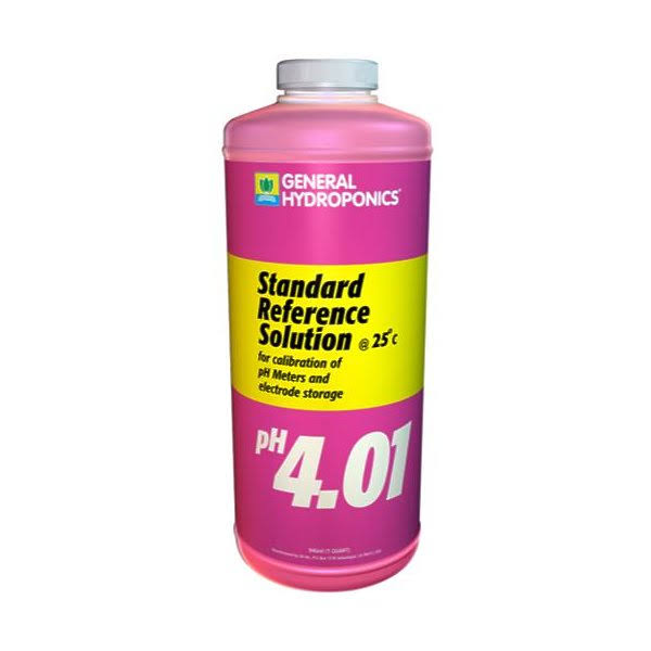 General Hydroponics Ph 4.01 Calibration Solution - 32oz