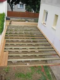 terrasse en bois sur dalle béton