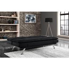 Walmart Black Futon Sofa by Premium Bailey Pillow Top Futon Black Walmart Com