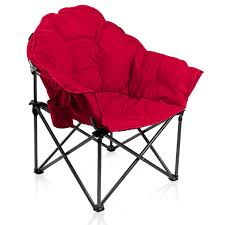 ALPHA CAMP Oversized Camping Chairs Padded Moon Round Chair Saucer Recliner  Supports 500 Lbs With Folding Cup Holder And Carry Bag Red Round Chair Folding Campzio Bungee Red Cp0003 2016 Campzio 3 Piece Teak Wood Santa Bbara Patio Ding Set 36 Portable Toilet Seat For Camping And Hiking With Back Rest Nps Blow Molded Table 9 Pc Driftingwood Sheesham Chairs Living Room Of 2 Rich Walnut Finish Kawachi Small Perfect For Rv And Mobile Homes Heart Shaped Comfortable Light Flash Fniture Hercules Series Beige Metal Royalcraft Mhattan 4 Seater Armchairs Unicoo Bamboo With Two 5 Honey