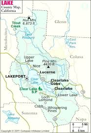 Lake County Map Printable Of Northern California Counties