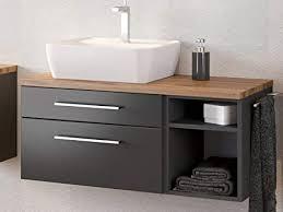 waschbeckenunterschrank badschrank unterschrank schrank badmöbel davos iii graphit grau matt