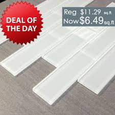 white glass subway tile 2 x 6