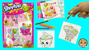 Make Your Own Shopkins Cards Color Sticker Craft Kit