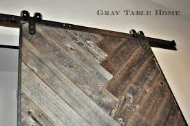 DIY Herringbone Barn Door