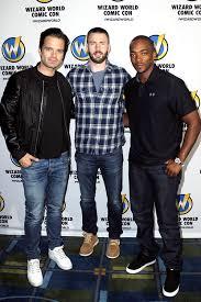 Mcavoys Sebastian Stan Chris Evans And Anthony Mackie Of Captain America