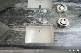 kohler ladena 34 bathroom with rain shower head limestone kohler