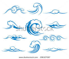 Colection Clip Art Wave Patern Waving Wave Surfing Surf Tidal Wave Sea Sign Ilustration and Painting