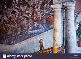 Jose Clemente Orozco Murals by Detail Of U0027hidalgo U0027 Mural Painting By José Clemente Orozco Over