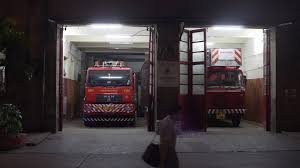 Firetrucks At Firefighter Station, Emergency Call, Nighttime, Mumbai ...