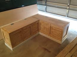 Corner Kitchen Table Set With Storage by Corner Storage Bench Furniture Making A Incredible Table