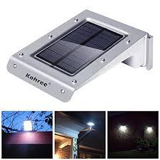 kohree 20 led bright solar powered motion sensor light outdoor