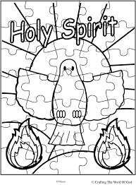 Holy Spirit Puzzle Activity Sheet Sheets Are A Great Way To End