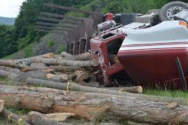 100 Logging Truck Accident PHOTOS Driver Hurt In I68 Log Truck Rollover News Timesnewscom