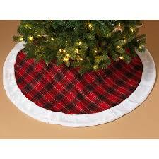 Mini Plaid Tree Skirt Christmas Trees