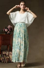 green cape floral pleated maxi dress abaday com