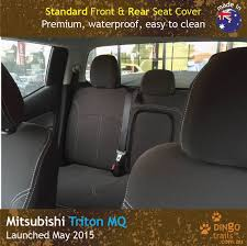 FRONT & REAR Seat Covers + Armrest Access (MT15HB+Rz) - Dingo Trails