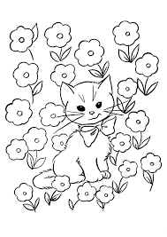 Full Size Of Coloring Pagescatbug Pages Captivating Catbug Kitten In Flowers