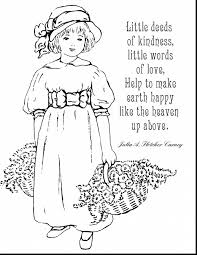 Awesome Kindness Coloring Pages Printable With Quote And Motivational