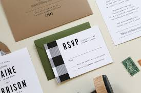 Buffalo Check Wedding Invitation Suite