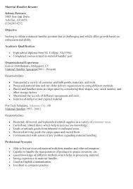Ups Resume Material Handler Sample Best Of Supervisor Example