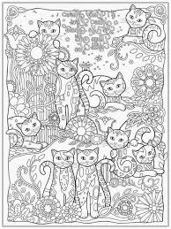 Adult Coloring Sheets Cats Kittens Puppies