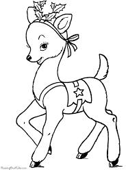 Christmas Reindeer Coloring Pages Printable