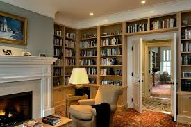 Living Room With Fireplace And Bookshelves by 62 Home Library Design Ideas With Stunning Visual Effect