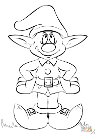 Click The Christmas Elf Coloring Pages To View Printable