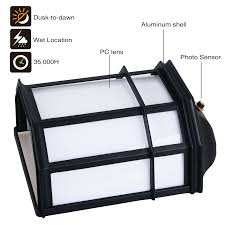 23w outdoor dusk to led wall light torchstar