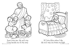 Free Coloring Page Jesus Loves The Little Children Pages New At Kids