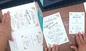DIY Vintage Wedding Invitation In Black And Gold