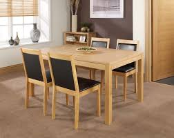 dining room oak dining table with brown wall design and small
