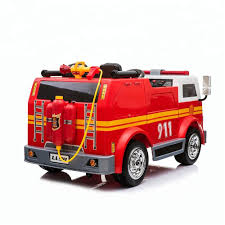 100 Kids Electric Truck Factory New Design Ll911 Fire Car For Baby Ride On