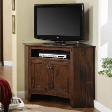 TV Stand With 2 Door Cabinets And Rustic Style Pertaining To Small Corner Tv Designs 6