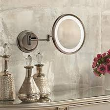 wall mounted makeup mirrors magnifying lighted more ls plus