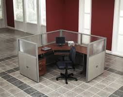 OFM Rize Single Office Cubicle Workstation W Mobile Pedestal 72 X