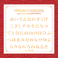 Japanese Alphabet Hiragana Graphic Font Your Stock Vector Royalty