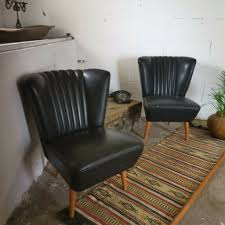 Set Of Club Sky 1950's Vintage Mid-Century Comfy Iconic German BARTHOLOMEW  Chairs In Black | In Finsbury Park, London | Gumtree