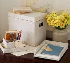 Pottery Barn Office Desk Accessories by Pandan White Wash Desk Accessories Pottery Barn