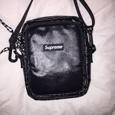 Supreme Shoulder Bag Black SS17 Bags Strictlypreme