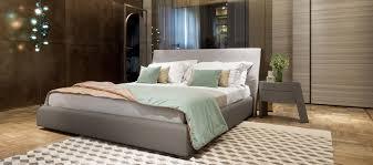 chambre altea lit contemporain tapissé en tissu altea giorgetti
