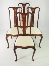 Set Of 4 Antique Edwardian Art Nouveau Dining Chairs - LA45902 ... Set Of 4 Quality Art Nouveau Golden Oak High Slat Back Ding Chairs 554 Art Nouveau Ding Table And Chairs 3d Model Vintage 6 Antique French 1900 Walnut Nailhead Set 8 Edwardian Satinwood Beech Four Art Nouveau Louis Majorelle Ding Chairs Jan 16 2019 Room And Sale Mid Century Hand Made Game By Terry Bostwick Casa Padrino Luxury Dark Brown Cream 51 X Round In The Unique Timeless Tufted Armchair Chair Blue Velvet Navy 1900s Vinterior