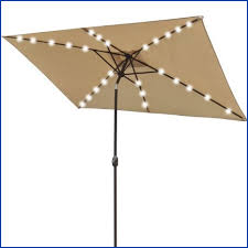 Solar Lighted Rectangular Patio Umbrella by Rectangular Patio Umbrella With Solar Lights As Your Reference