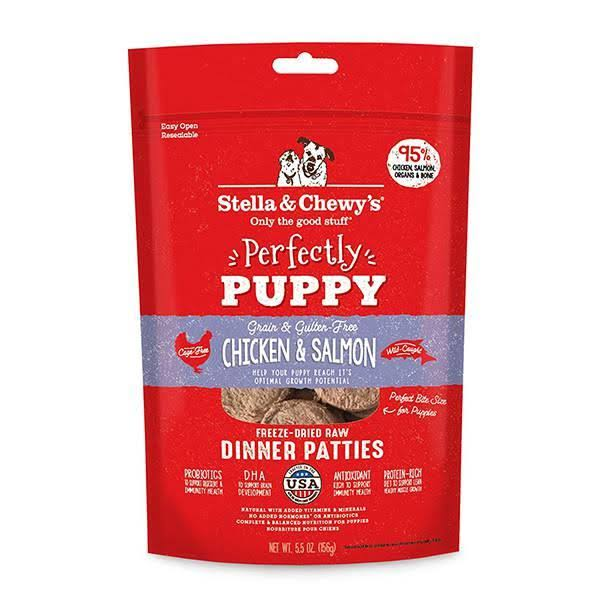 Stella Chewy's Perfectly Puppy Freeze Dried Raw Chicken & Salmon Dinner Patties Grain Free Dog Food - 5.5 oz