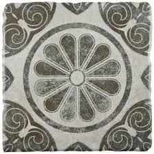 merola tile twenties vintage 7 3 4 in x 7 3 4 in ceramic floor