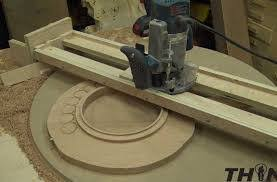 how to create a round groove of increasing diameter on the surface