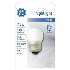ge 7 5 watt nightlight incandescent light bulb white target