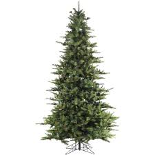 Artificial Christmas Trees Unlit Cheap by Home Accents Holiday 7 Ft Noble Fir Quick Set Artificial